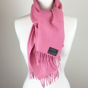 Cashmere Wool Blend Pink Scarf